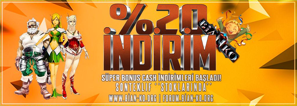 %20 Süper Bonus Cash İndirimleri Başladı Stoklar Sonteklif'de