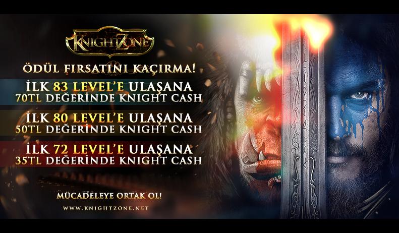 KnightZone Official'da İlklere Ödüller Var !