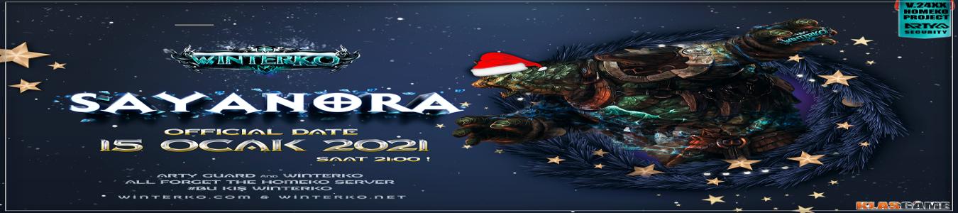 WinterKO SAYANORA 15 Ocak 2021 - 21:00 GMT+3